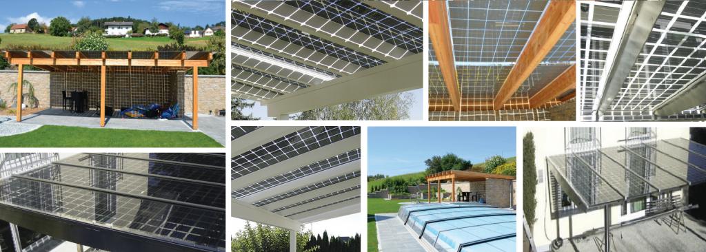 Photovoltaik-Terrassenüberdachung